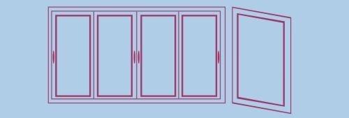 Передняя часть балкона + 1 боковая