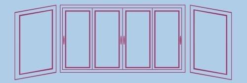 Передняя часть + левая и правая боковые части балкона
